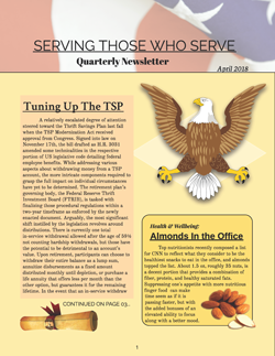 STWS Newsletter- Serving Those Who Serve Quarterly Newsletter – April 2018
