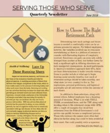 Serving Those Who Serve's Quarterly Newsletter – June 2018