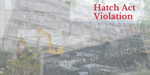 Federal Employee Resigns over Hatch Act Violations