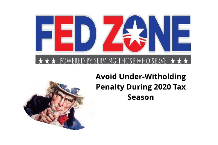 Avoid An Under-withholding Penalty During 2020 Tax Season